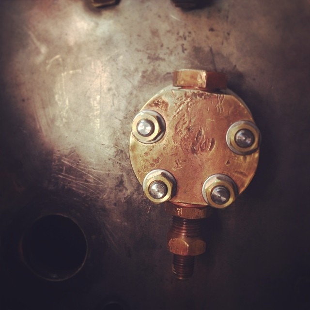 60 year old boiler going back together with new gaskets and hardware. Ready for another lifetime. #coffeemachinist